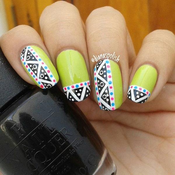 Nail Art Design Rubrics : Stylish green nail art design ideas for trendy girls