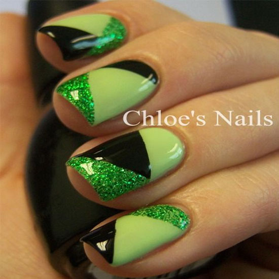 50 Most Beautiful Green Nail Art Designs