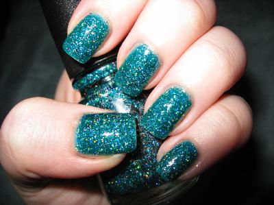 65 most beautiful green nail art design ideas green glitter nail art idea prinsesfo Choice Image