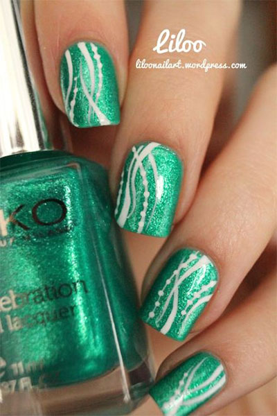 - Green Manicure Designs