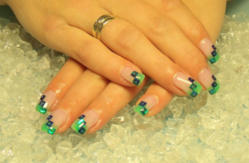Lime Green Toe Nails Wit Designs