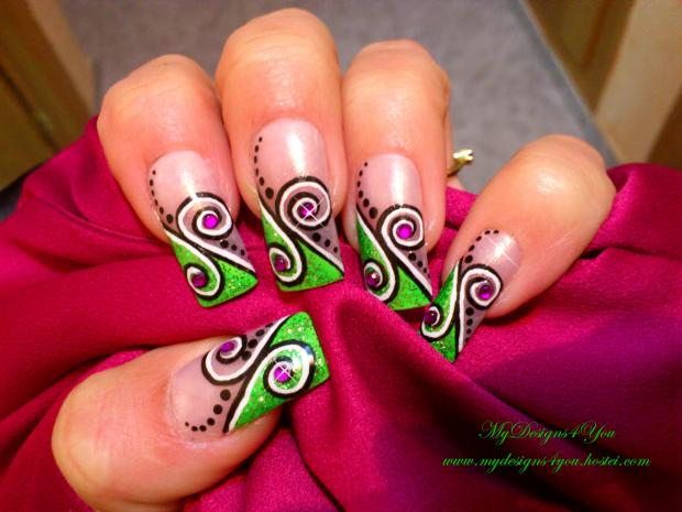 Nail Polish Designs Swirl To Bend Light