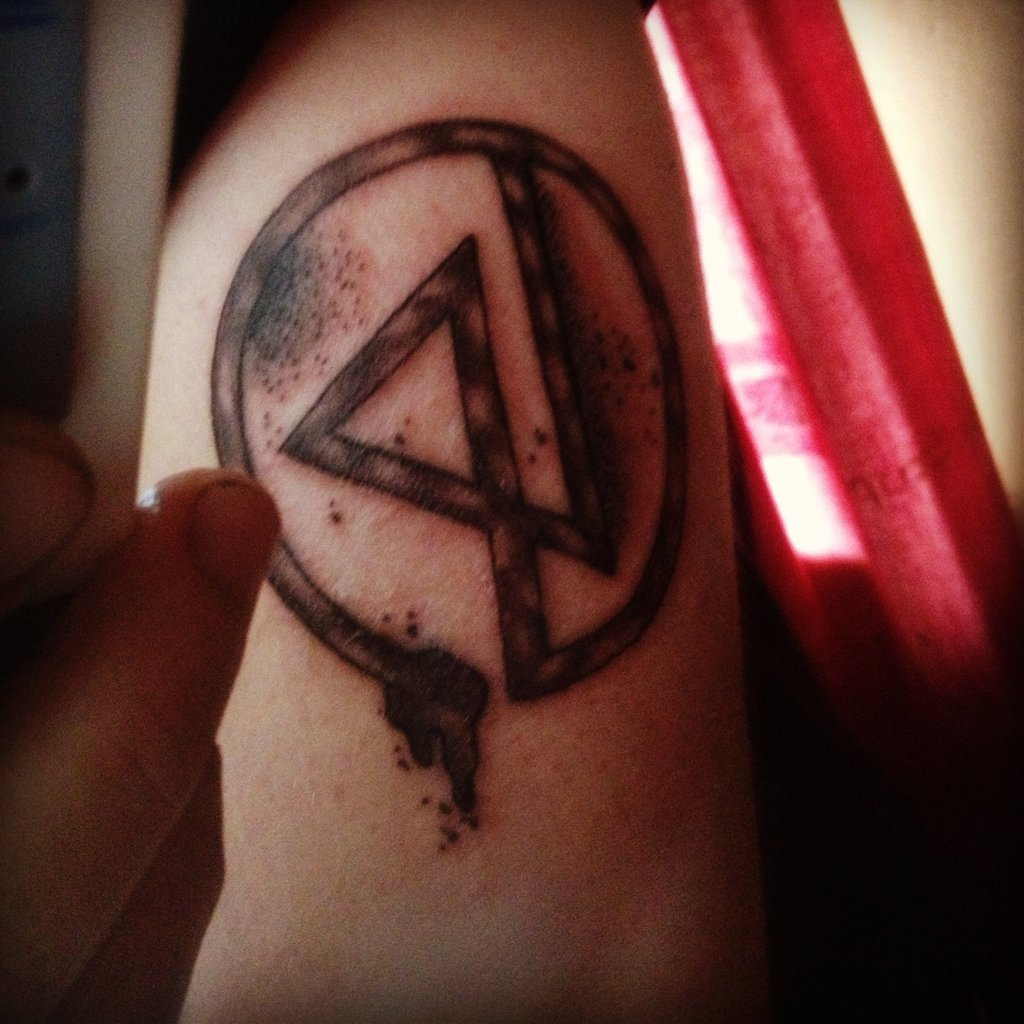 Grey linkin park symbol tattoo biocorpaavc