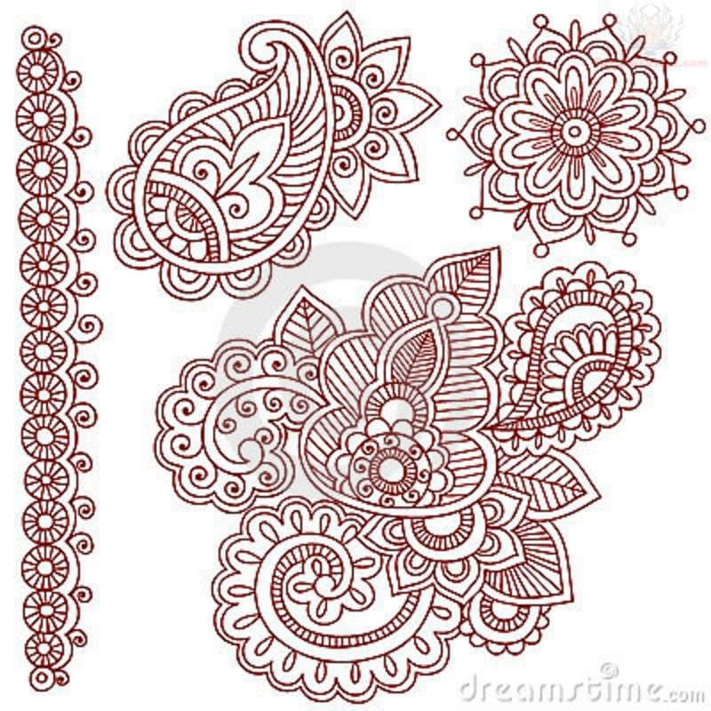 Henna Stencils: 50+ Paisley Pattern Tattoos Designs