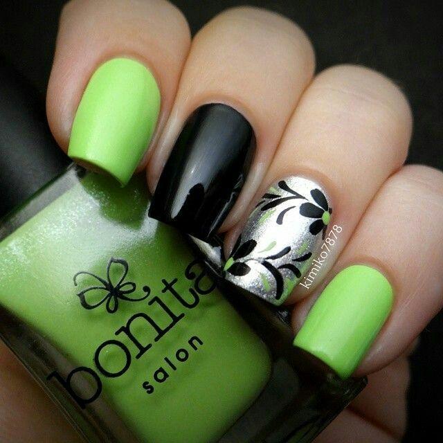 Green Nail Art Ideas: 50 Most Beautiful Green Nail Art Designs