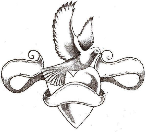 Dove Tattoo Stencil 16+ Love Tattoo...