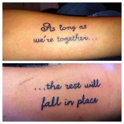 52 Quotes About Love : Love Quote Tattoo On Forearms