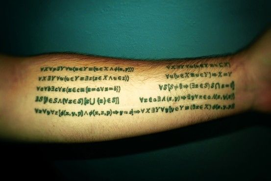 19 Equation Tattoo Designs