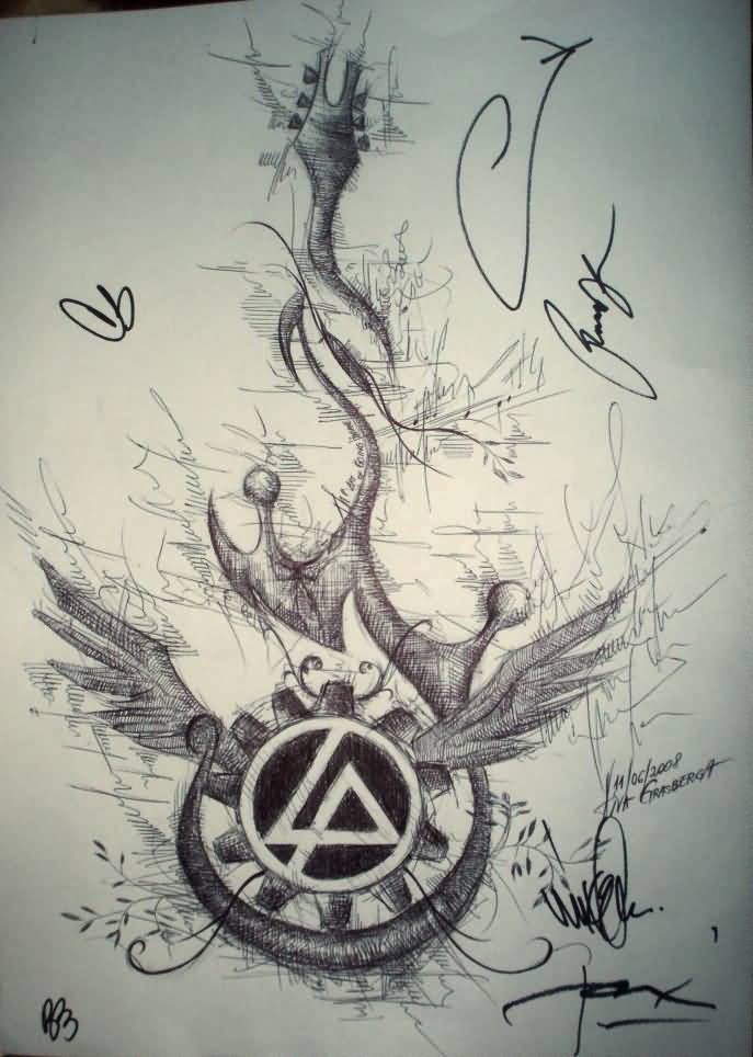 Meet And Greet Linkin Park Tattoo Design By Guardian Devils