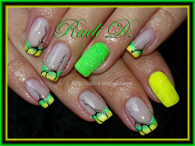 65 Most Beautiful Green Nail Art Design Ideas