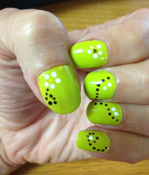 Nail Art Designs Green And Black Hession Hairdressing