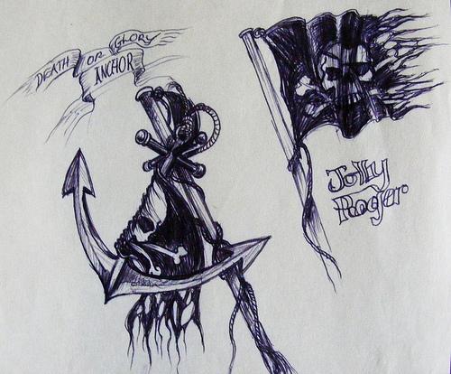 22 jolly roger tattoo designs. Black Bedroom Furniture Sets. Home Design Ideas