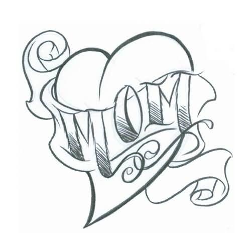 Love Tattoo Outlines: 35+ Amazing Mom Tattoo Designs