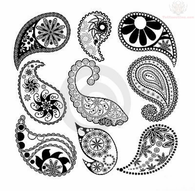 Tattoo Designs To Print: 50+ Paisley Pattern Tattoos Designs