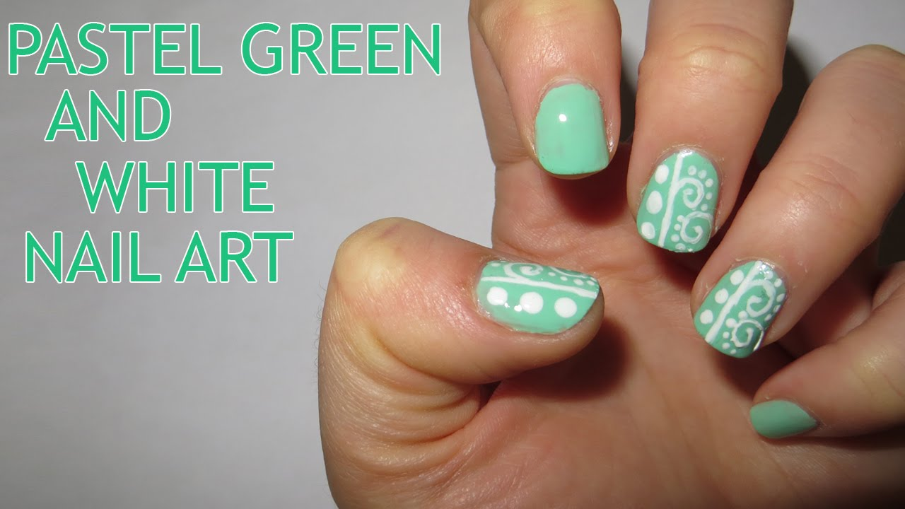 Nail designs with white and green : Pics photos green white nail design ideas with