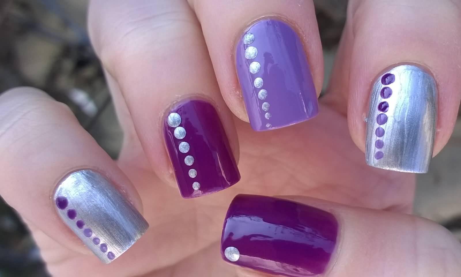 35+ Stylish Purple Nail Art Designs For Toe Nails