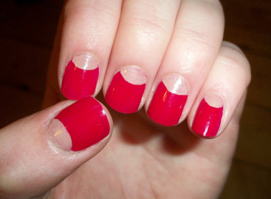 63 Most Beautiful Half Moon Nail Art Design Idea