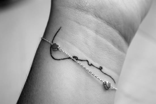 Simple Love Word Tattoo