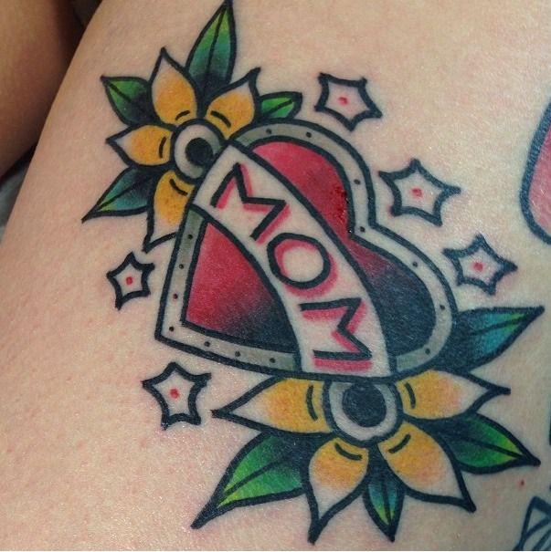 Love Mom Tattoo Forearm