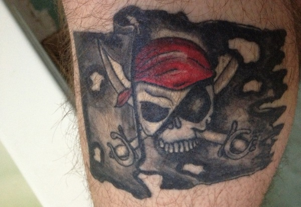 14 traditional pirate skull tattoos. Black Bedroom Furniture Sets. Home Design Ideas