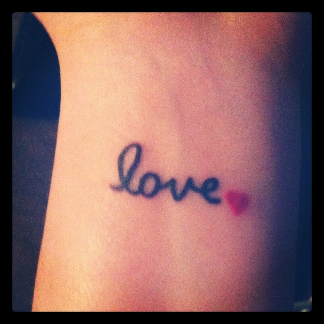 40 love tattoos on wrists for Small heart tattoos on wrist