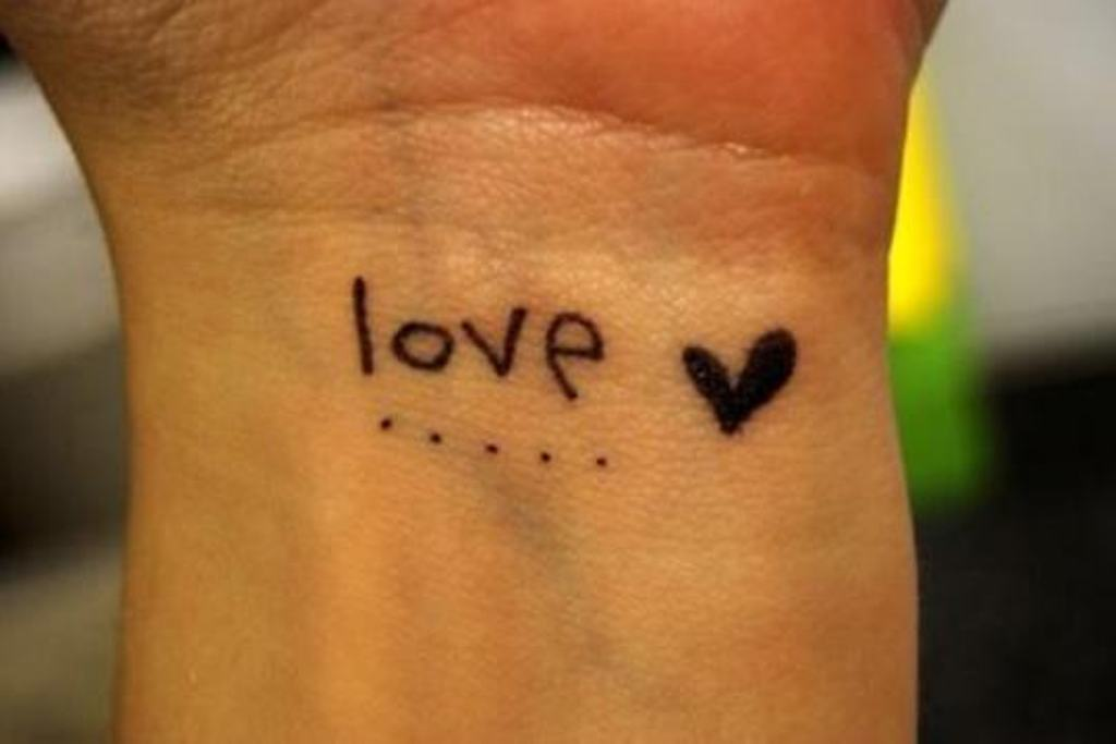 40+ Love Tattoos On Wrists