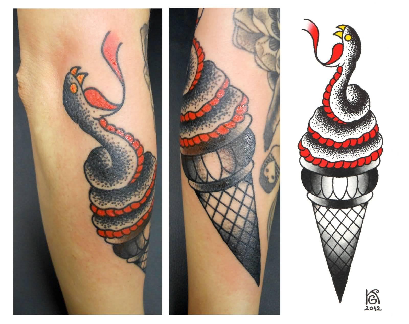 gucci mane ice cream tattoo design by lastinclass