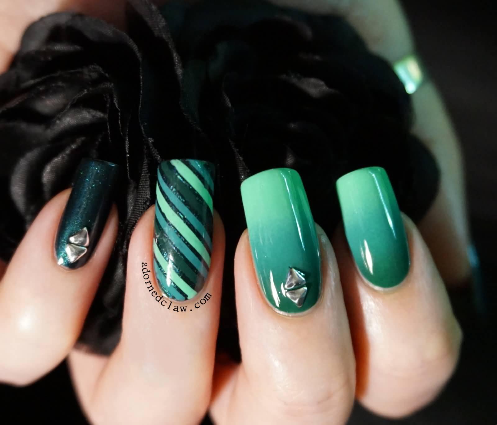 55+ Stylish Green Nail Art Design Ideas For Trendy Girls