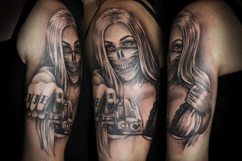 16 gangsta tattoos on half sleeve rh askideas com gangsta girl tattoo gangster girl tattoo meaning
