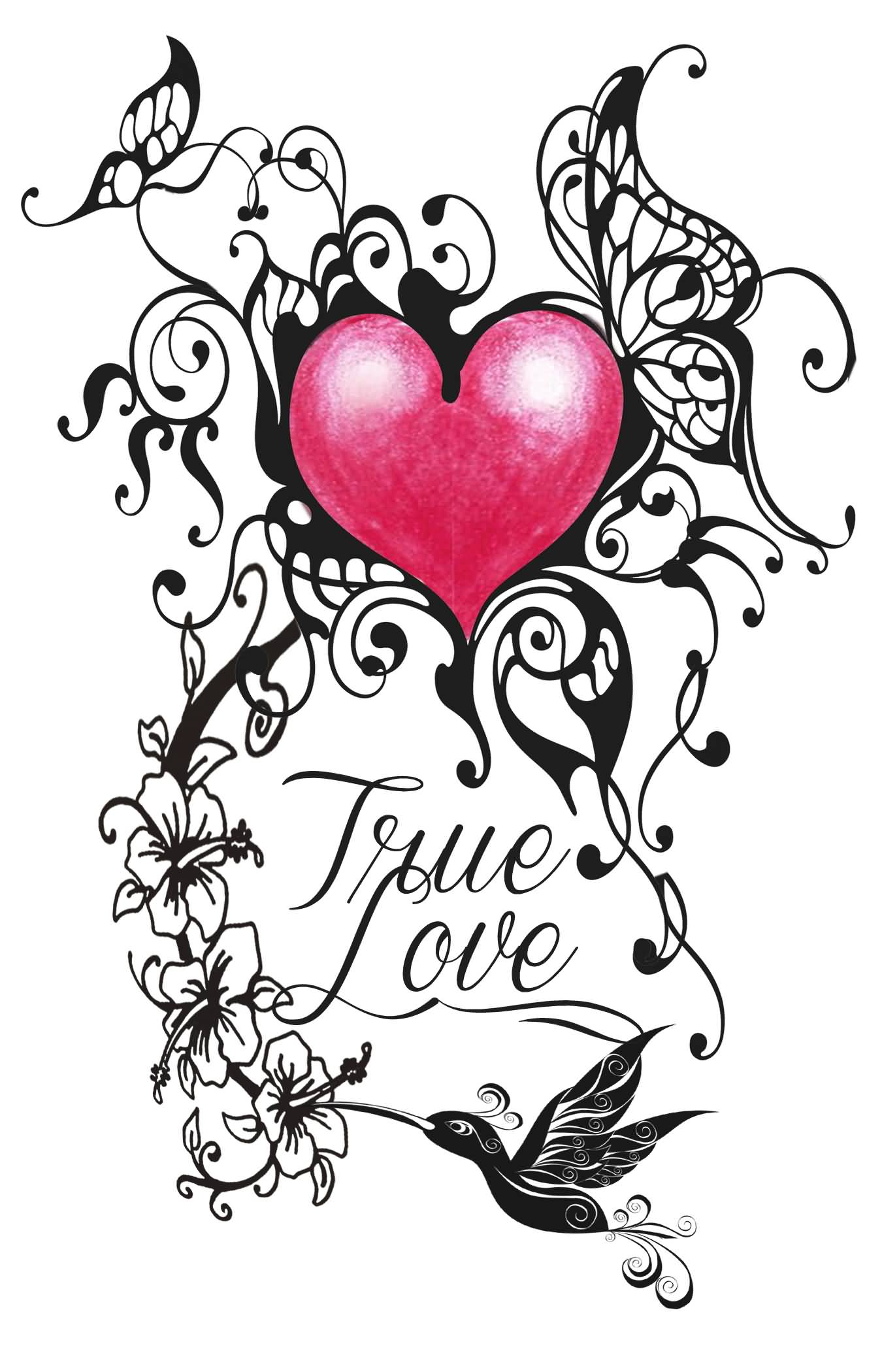 16 love tattoo designs for Love design