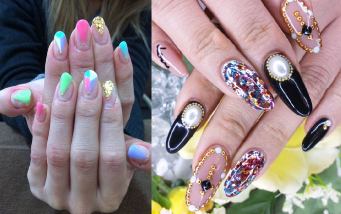 Two Beautiful Japanese Nail Art Design Idea