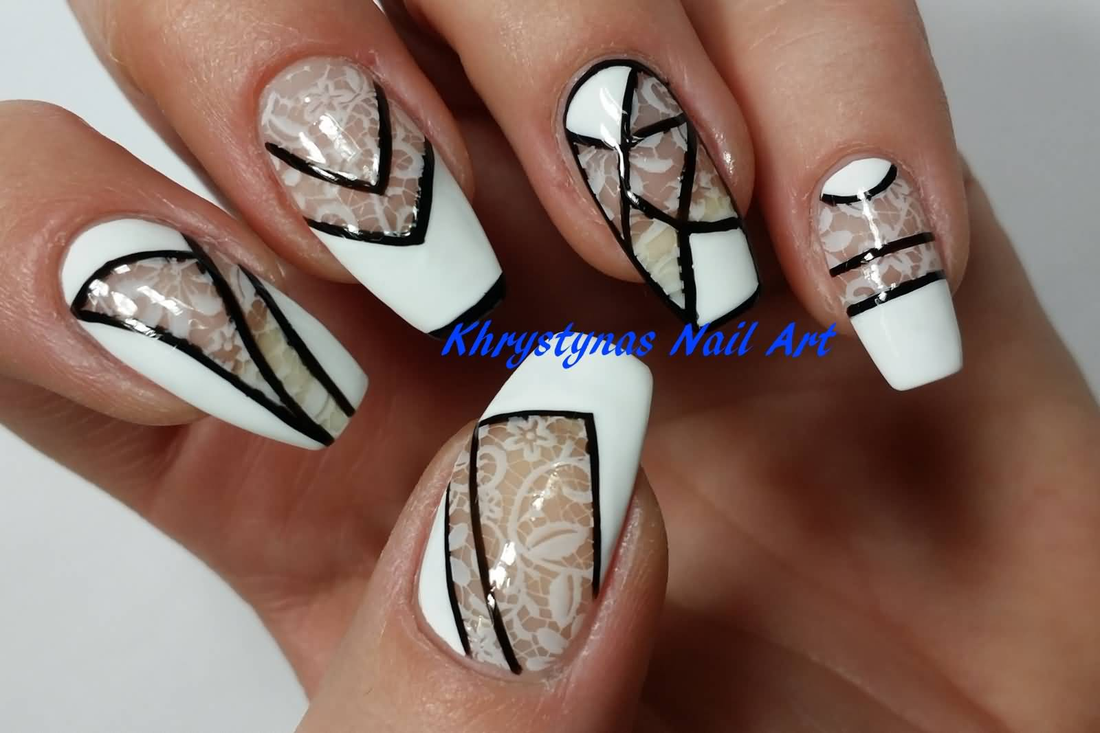 70 most stylish negative space nail art designs