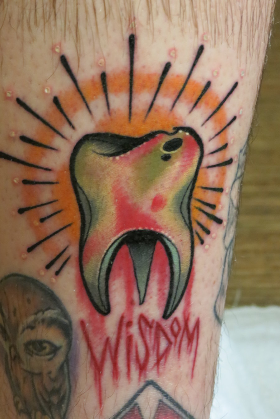 small molar tattoo on ankle. Black Bedroom Furniture Sets. Home Design Ideas