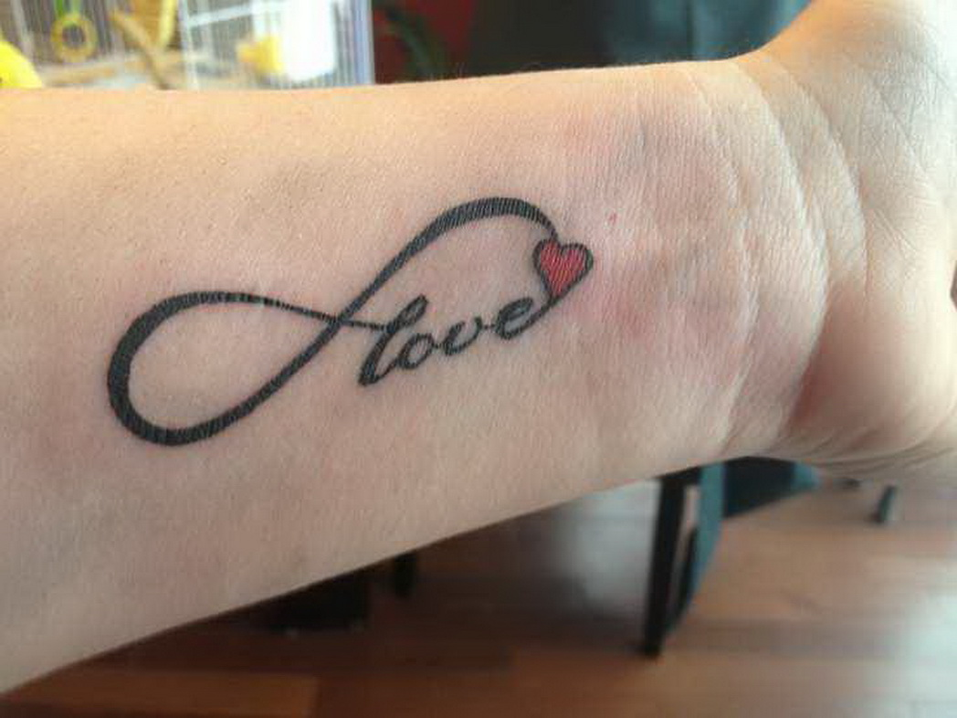 40 love tattoos on wrists for Infinity with heart tattoo