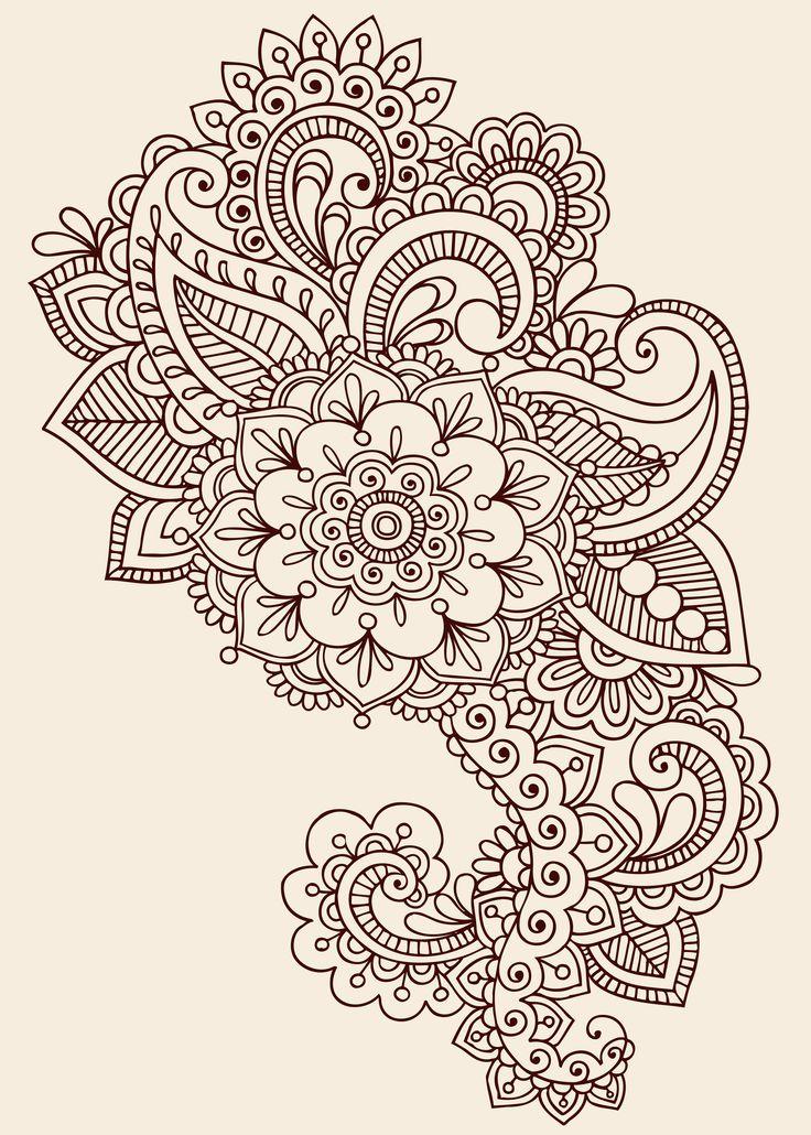 Flowers Paisley Pattern Tattoo Design