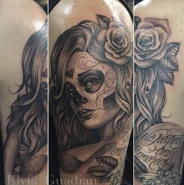 40 Catrina Tattoos Collection border=