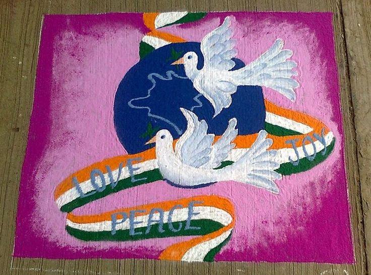 Amazing Rangoli Design Idea For Independence Day Of India