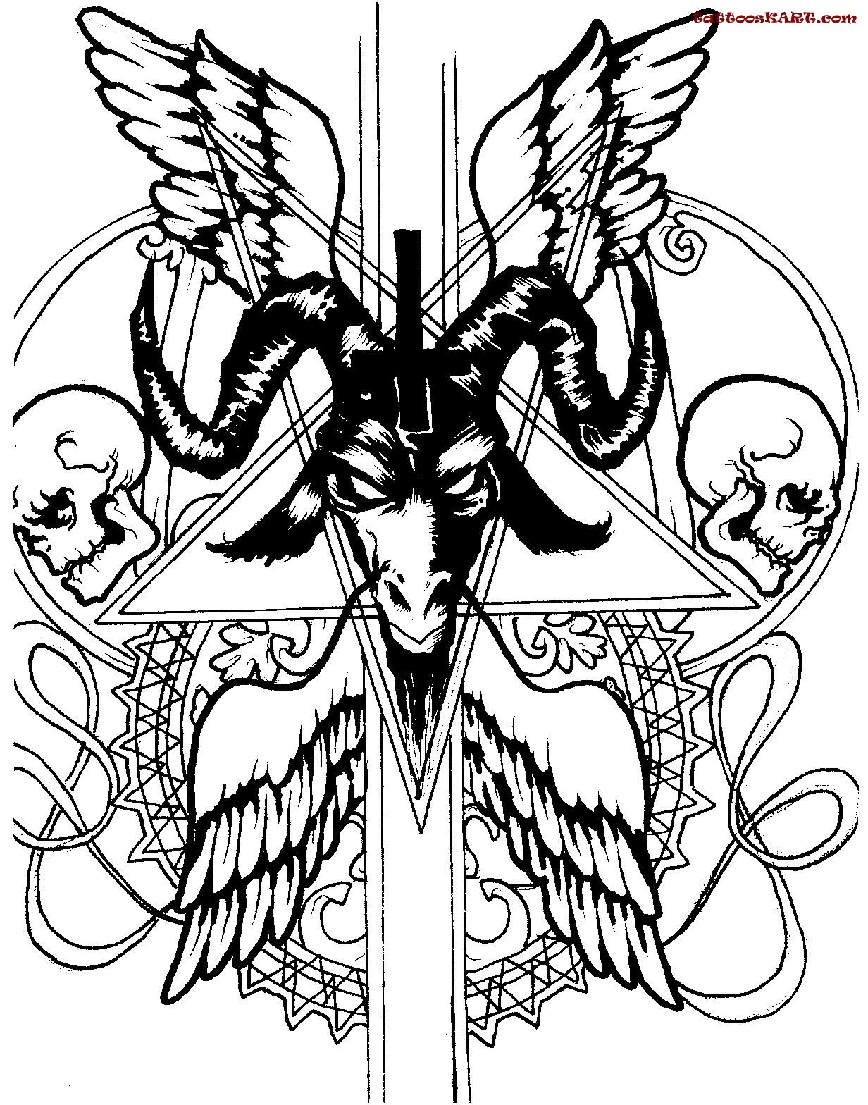 16 satan symbol tattoos amazing satan skulls tattoo design buycottarizona