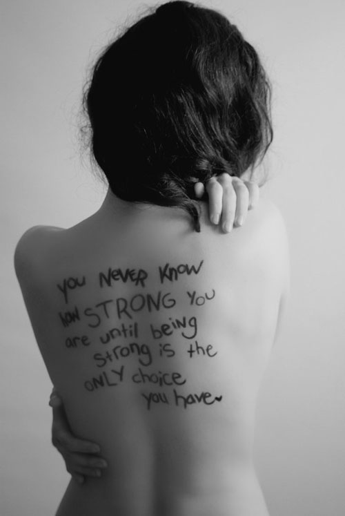 69 incredible strength tattoos for Back tattoos for girls quotes