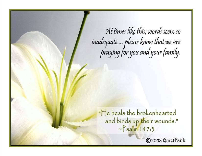 extending deep heartfelt sympathy to you and your family