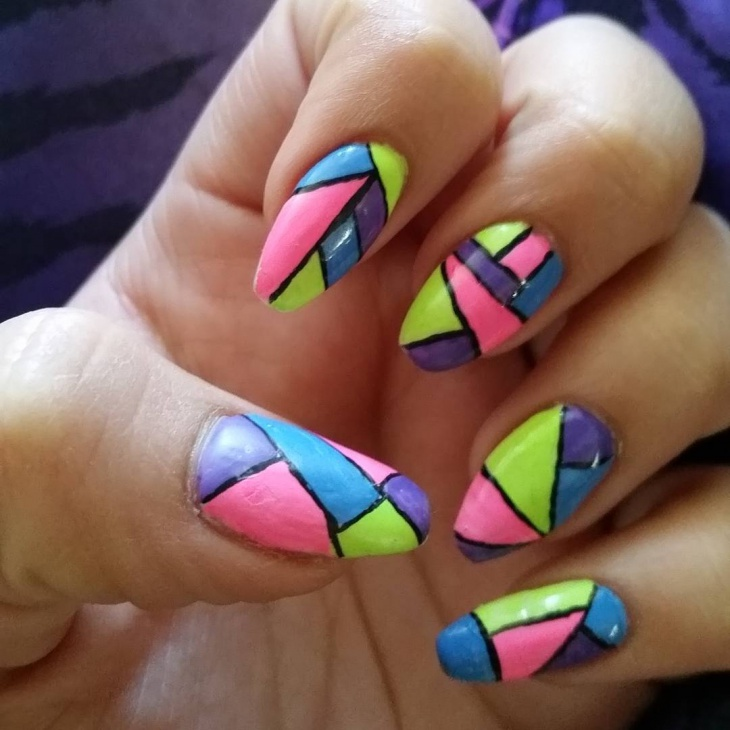 50 Latest Geometric Nail Art Designs