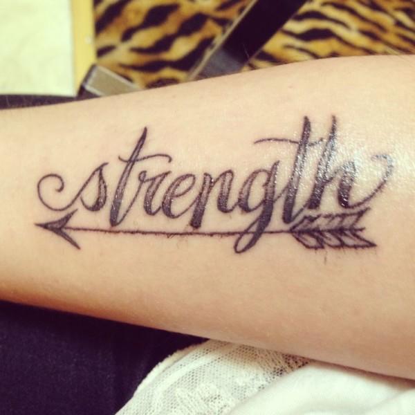 15 strength tattoos on wrists for Strength tattoos ideas