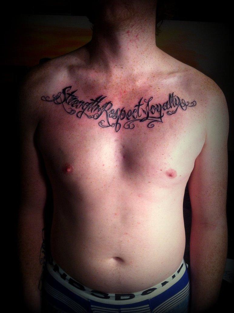 strength loyalty tattoo on collarbone. Black Bedroom Furniture Sets. Home Design Ideas