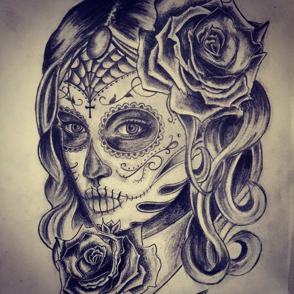 20 traditional catrina tattoos. Black Bedroom Furniture Sets. Home Design Ideas