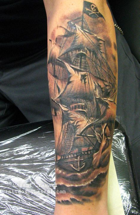 45 pirate ship tattoos ideas. Black Bedroom Furniture Sets. Home Design Ideas