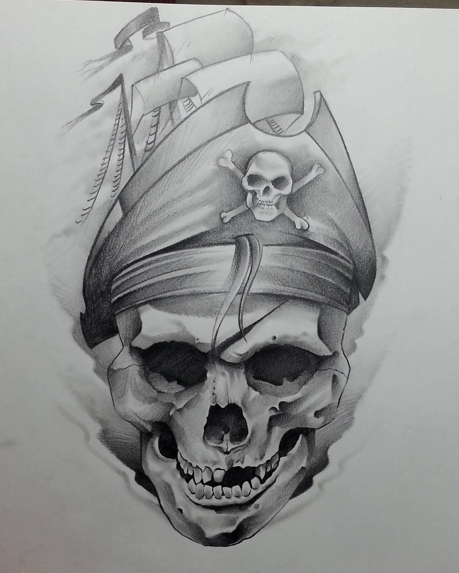 23+ Pirate Skull Tattoo Designs