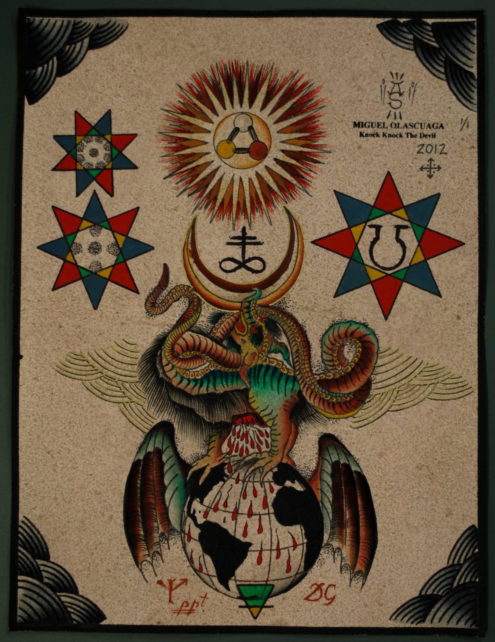 10 traditional satan tattoos
