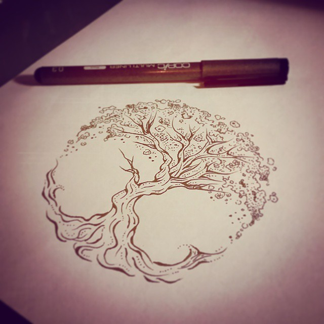 Awesome Tree Of Life Tattoo Sketch