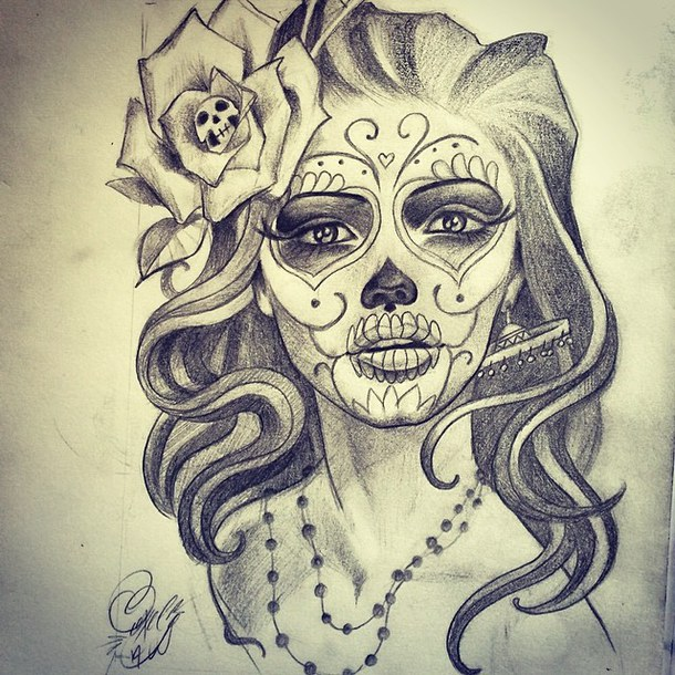 Brilliant gangster catrina tattoo design - Mexikanische totenmaske name ...
