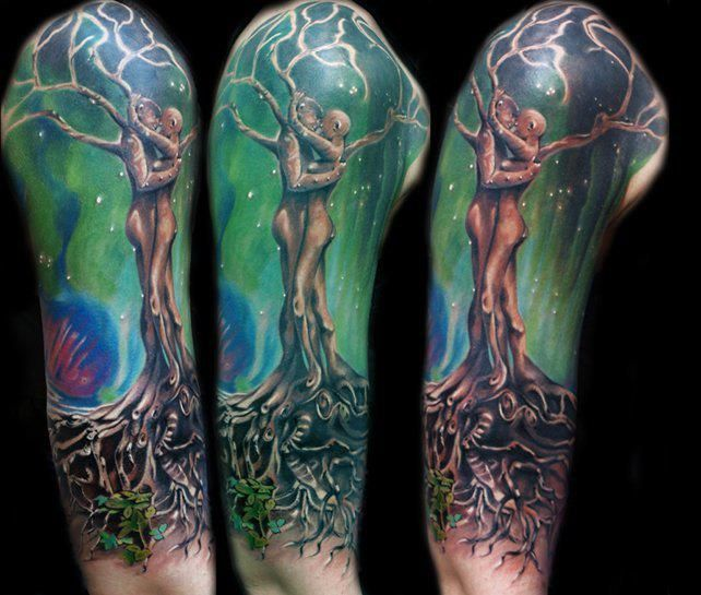 32+ Tree Of Life Tattoos On Sleeve